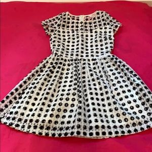 Size 7 black and white dress by GB Girls